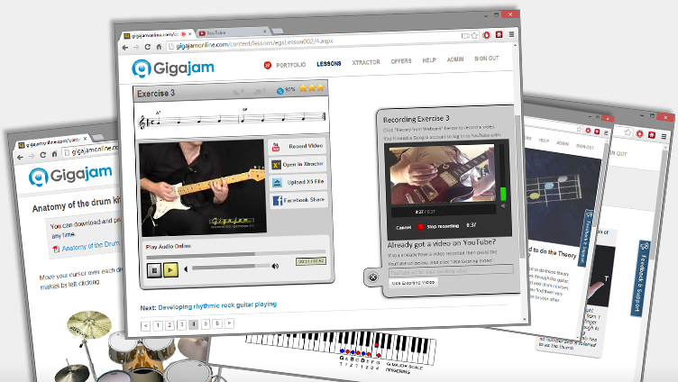 Exclusive Telegraph Offer, Gigajam Online Music School, Music Lessons, Guitar Lessons, Keyboard Lessons, Bass Lessons, Drum Lessons
