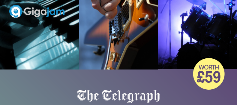 Learn an instrument with free Gigajam offer from the Telegraph