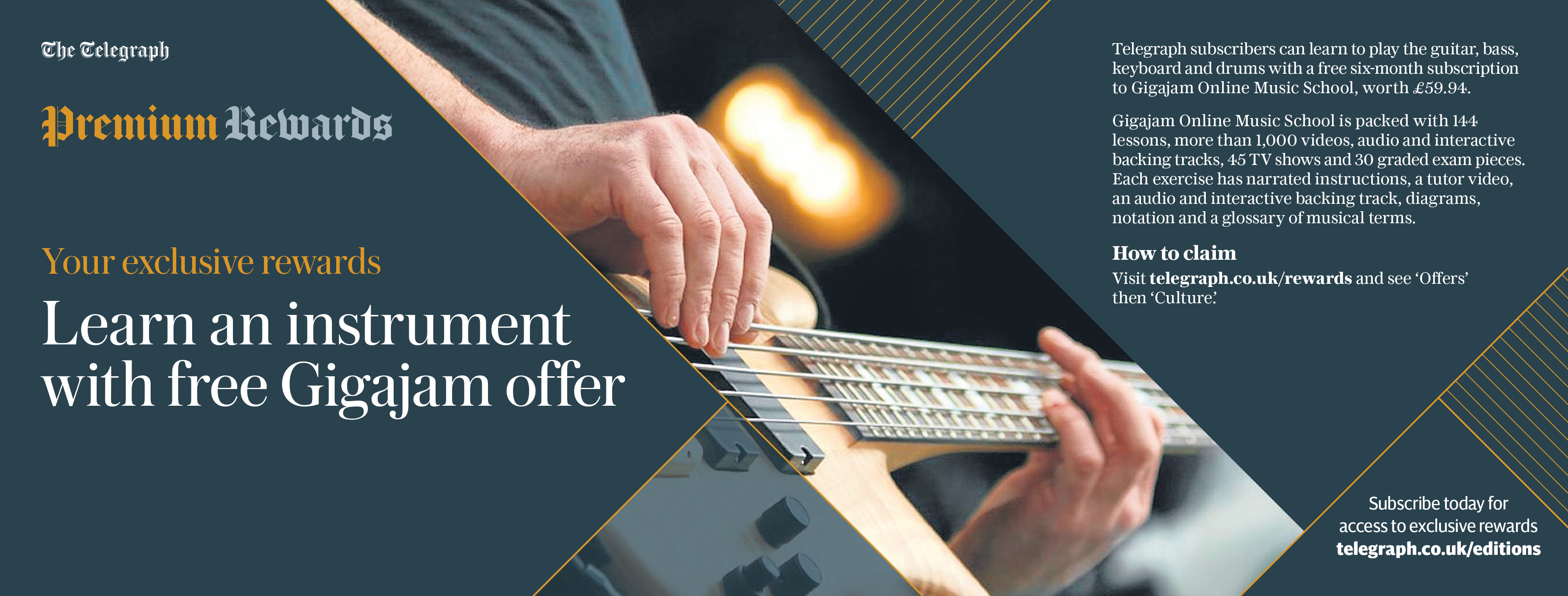Telegraph Promotions - Learn an instrument with free Gigajam offer